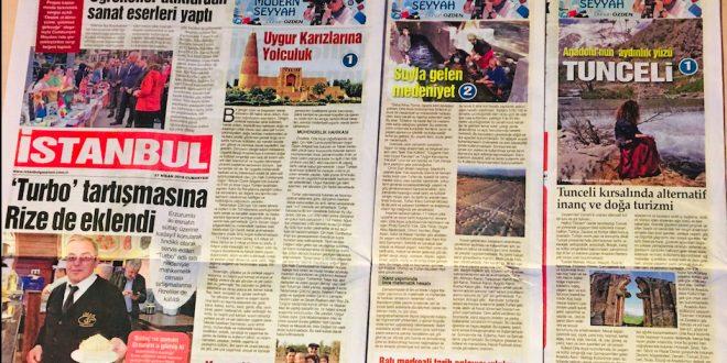 """""""Modern Seyyah"""" Dursun Özden, İstanbul Gazetesi'nde"""