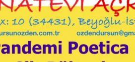Sanat Evi Açkısı & Poetica Şiir Bülteni